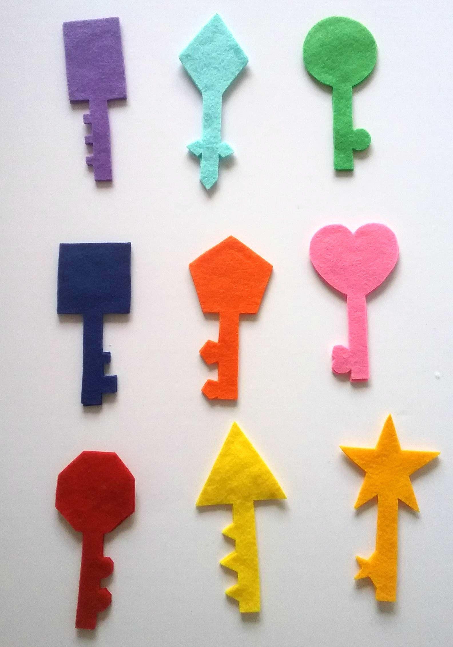 Key Shadow Matching Felt Board Set Colors Colours Shapes