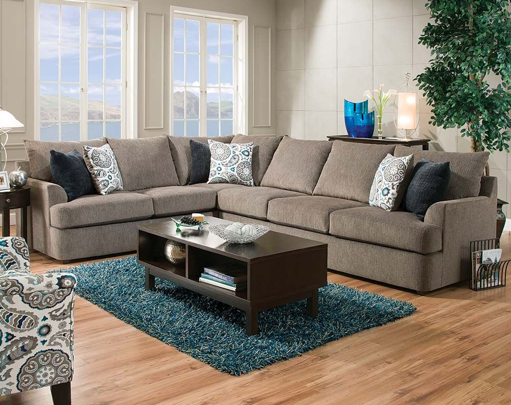 Two Piece Living Room Set Grandstand Flannel 2 Pc Sectional Sofa New House Ideas