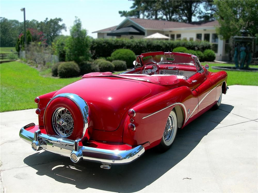 Delightful 1953 Red Buick Skylark Convertible With Continental Package :: Rear