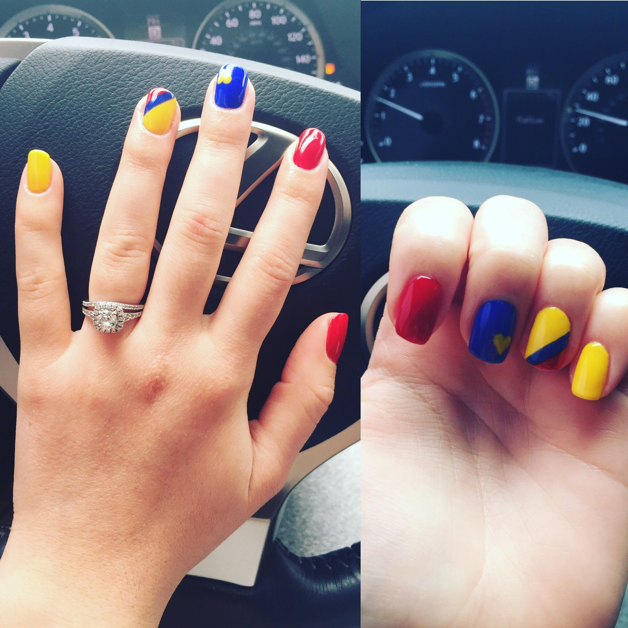 Nails Colors Colombia S Flag