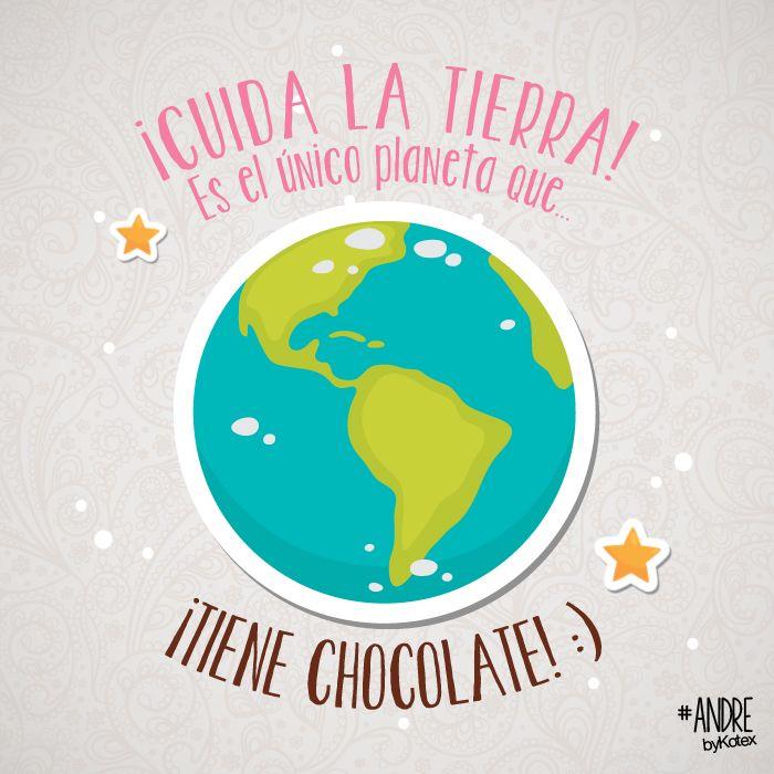 chocolate, tierra, planeta, cuida, cuidar #chocolate #happines #yum!