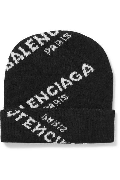 BALENCIAGA Intarsia Wool-Blend Beanie.  balenciaga  hats ... 77bba18bff8