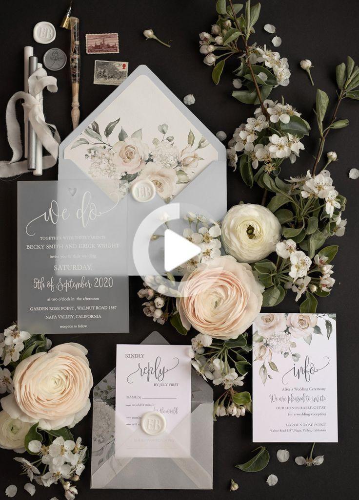 Elegante invito a nozze acrilico trasparente Progettiamo