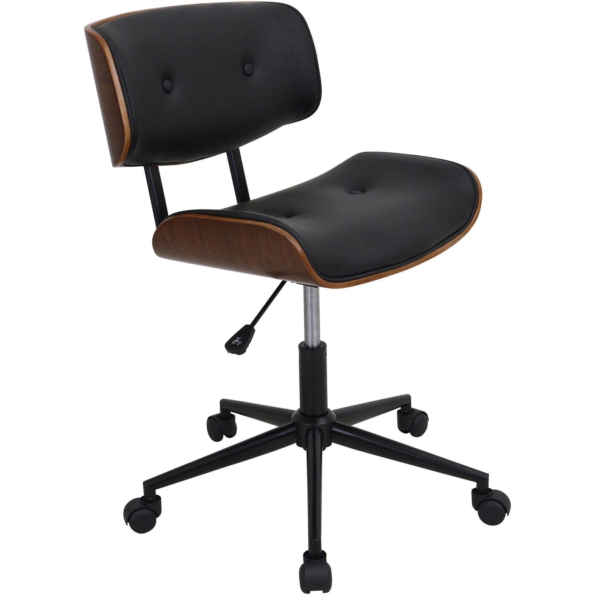 Lombardi Height Adjustable Swivel Office Chair Walnut Black Swivel Office Chair Black Office Chair Adjustable Office Chair