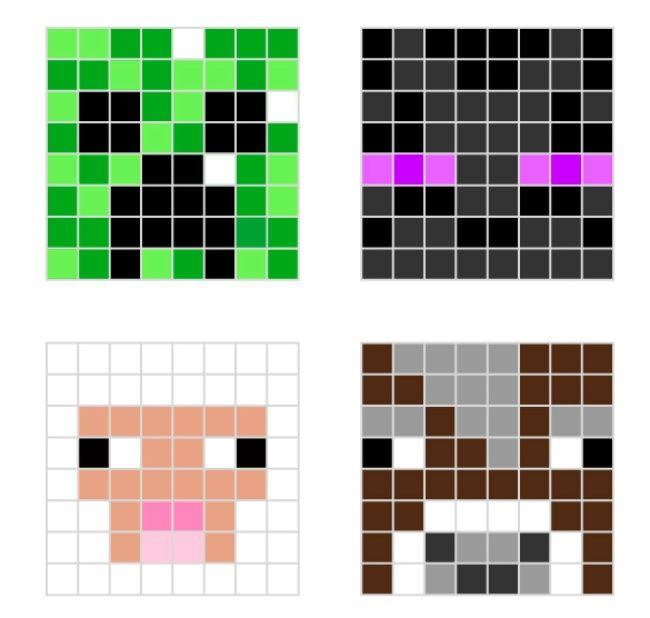 Charming Pixel Art Templates | ... Minecraft Food Pixel Art Templates Minecraft Food Pixel  Art Design Ideas
