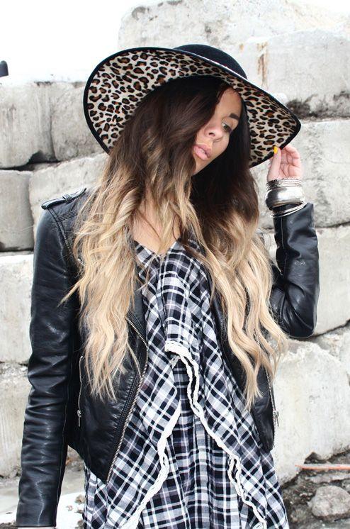 .Bewolf Blog...#Checkered #Hat #Leather jacket #jeans #pom pom sandals #leopard http://bewolffashion.blogspot.ca/ http://www.bewolfclothing.com/