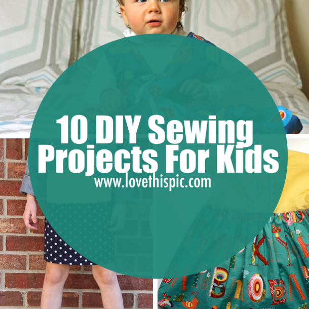 In this blog, we are exploring ten sewing projects for kids and how to make these ideas that you see. fashion diy diy fashion sewing projects kids fashion kids sewing projects
