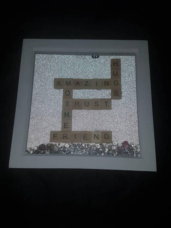 Scrabble frame, mothers gift, mothers day, scrabble letters, tile
