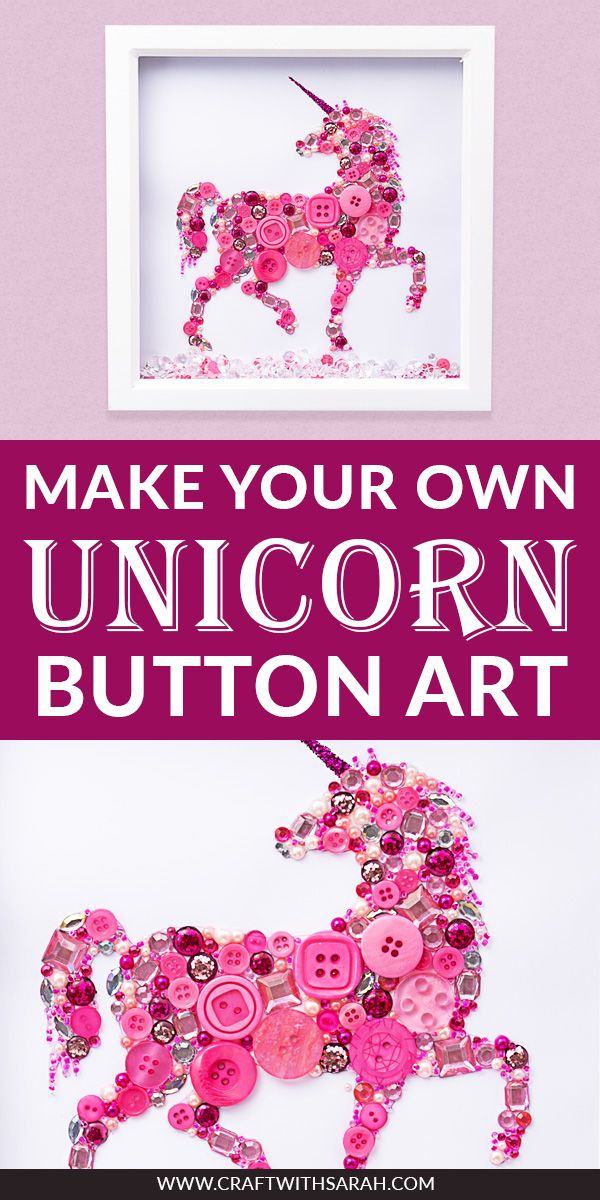 Unicorn Button Art Tutorial #unicorncrafts