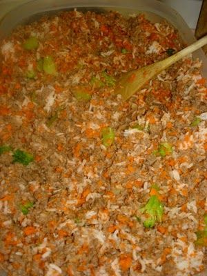 My homemade dog food recipe 5 pound roll of ground turkey 5 pounds my homemade dog food recipe 5 pound roll of ground turkey 5 pounds of veggies 3 cups uncooked brown rice good alternatives are oats and quinoa be sure forumfinder Choice Image