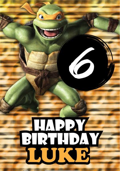 Michelangelo Teenage Mutant Ninja Turtles Personalised Kids – Personalised Kids Birthday Cards