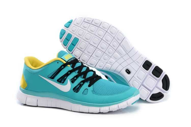 0874b821d0a43 Nike Free 5.0+ Mens Blue Yellow Black