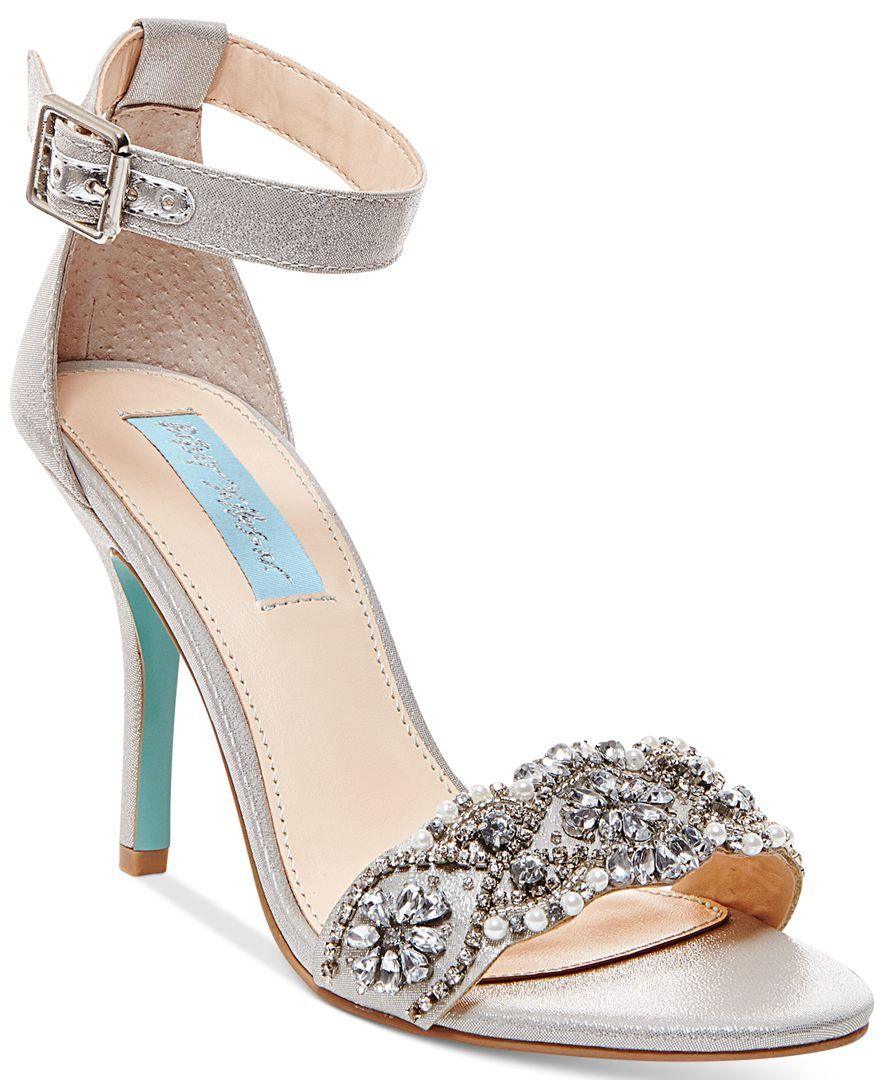 Gina Embellished Evening Sandals | Shoes | Blue by betsey