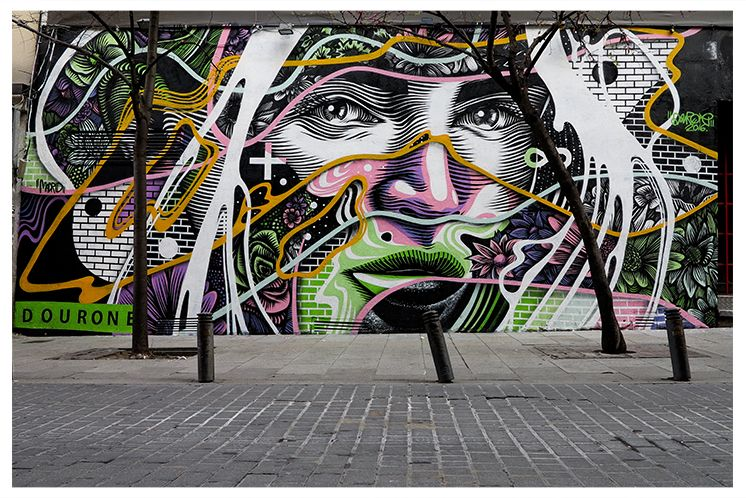 """""""Border Line"""" by Dourone in Madrid"""
