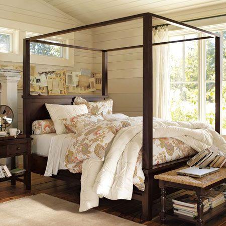 4 post bed | Bed Frames | Pinterest | Beautiful y Plataforma