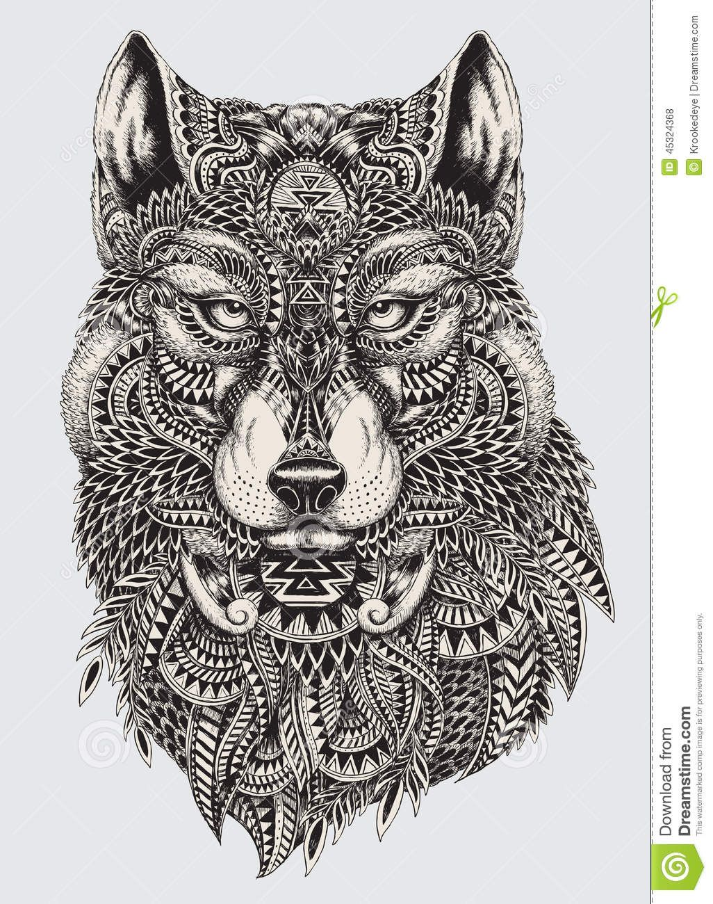 highly detailed abstract wolf illustration download from over 29