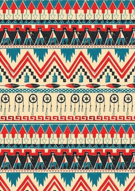 Tribal Design On We Heart It Tribal Wallpaper Aztec Wallpaper Tribal Patterns