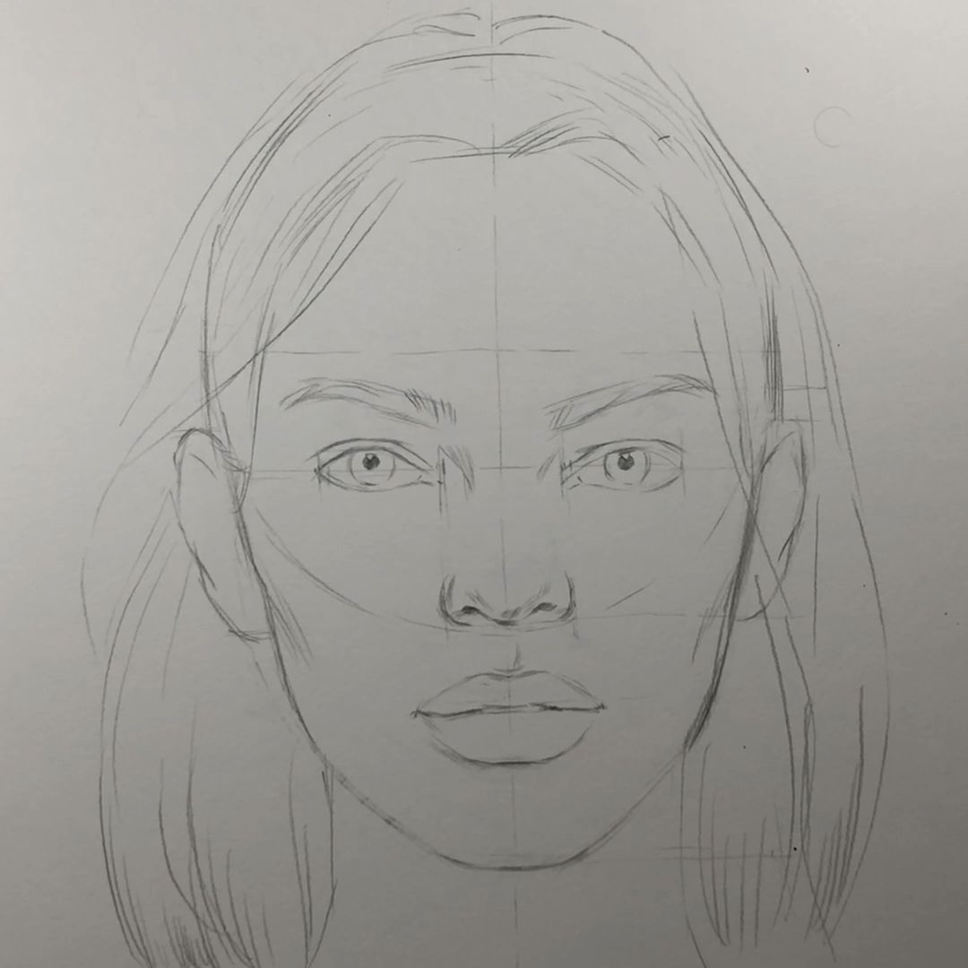 Photo of How to draw a face. Face proportions