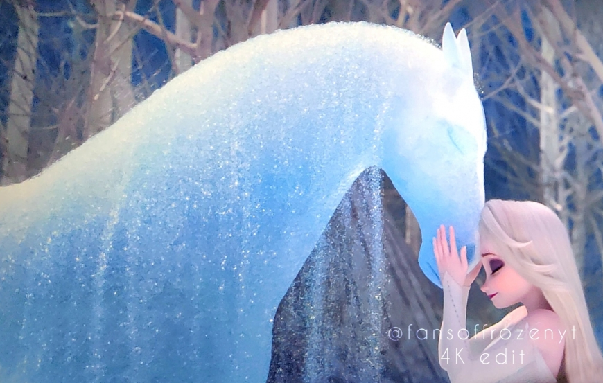 Elsa And Nokk In Frozen 2 Final Frozen Disney Movie Disney Princess Frozen Disney Movie Characters