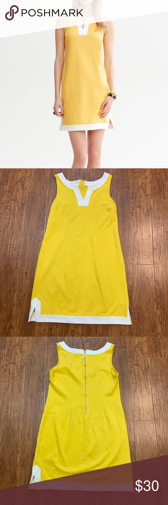 Banana Republic Yellow And White Shift Dress 6 White Shift Dresses Shift Dress Dresses [ 1740 x 580 Pixel ]