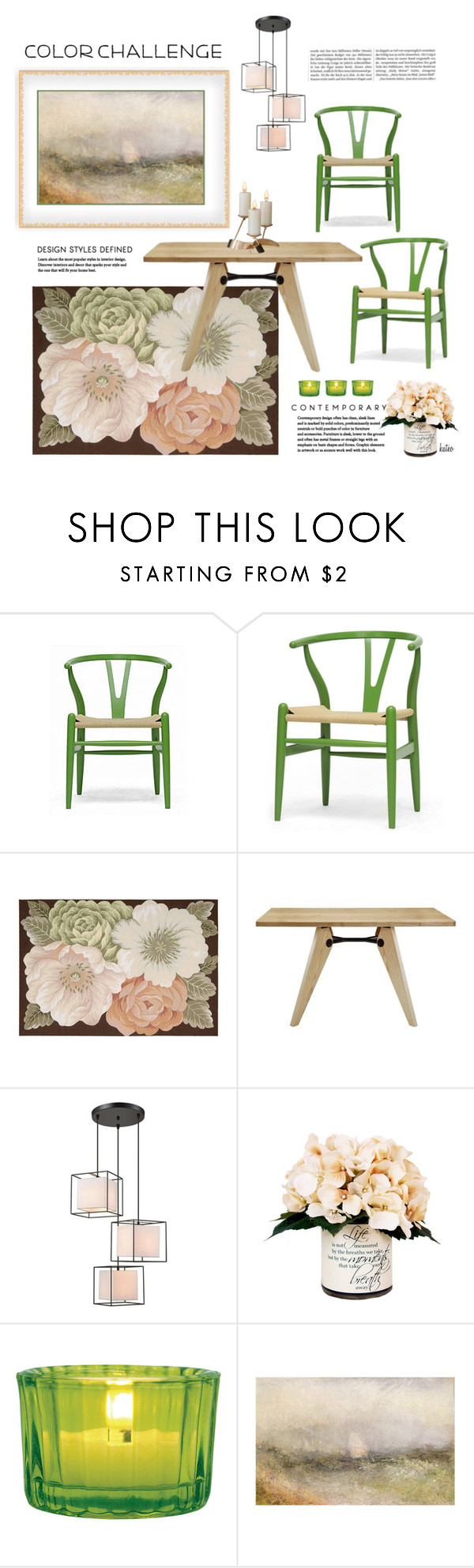 """""""Green & Blush Dining Room"""" by kateo ❤ liked on Polyvore featuring interior, interiors, interior design, home, home decor, interior decorating, Baxton Studio, Dimond, Creative Displays and Cultural Intrigue"""