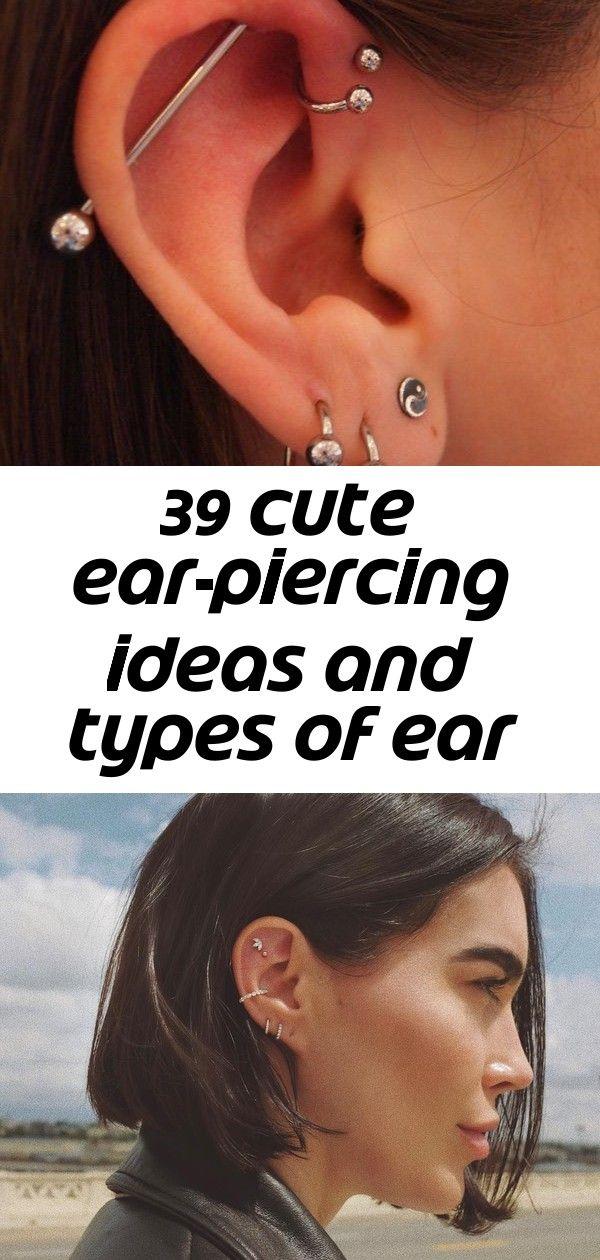 39 cute ear-piercing ideas and types of ear piercings. edgiest piercings | cool ear piercings for gu #earpiercingideas