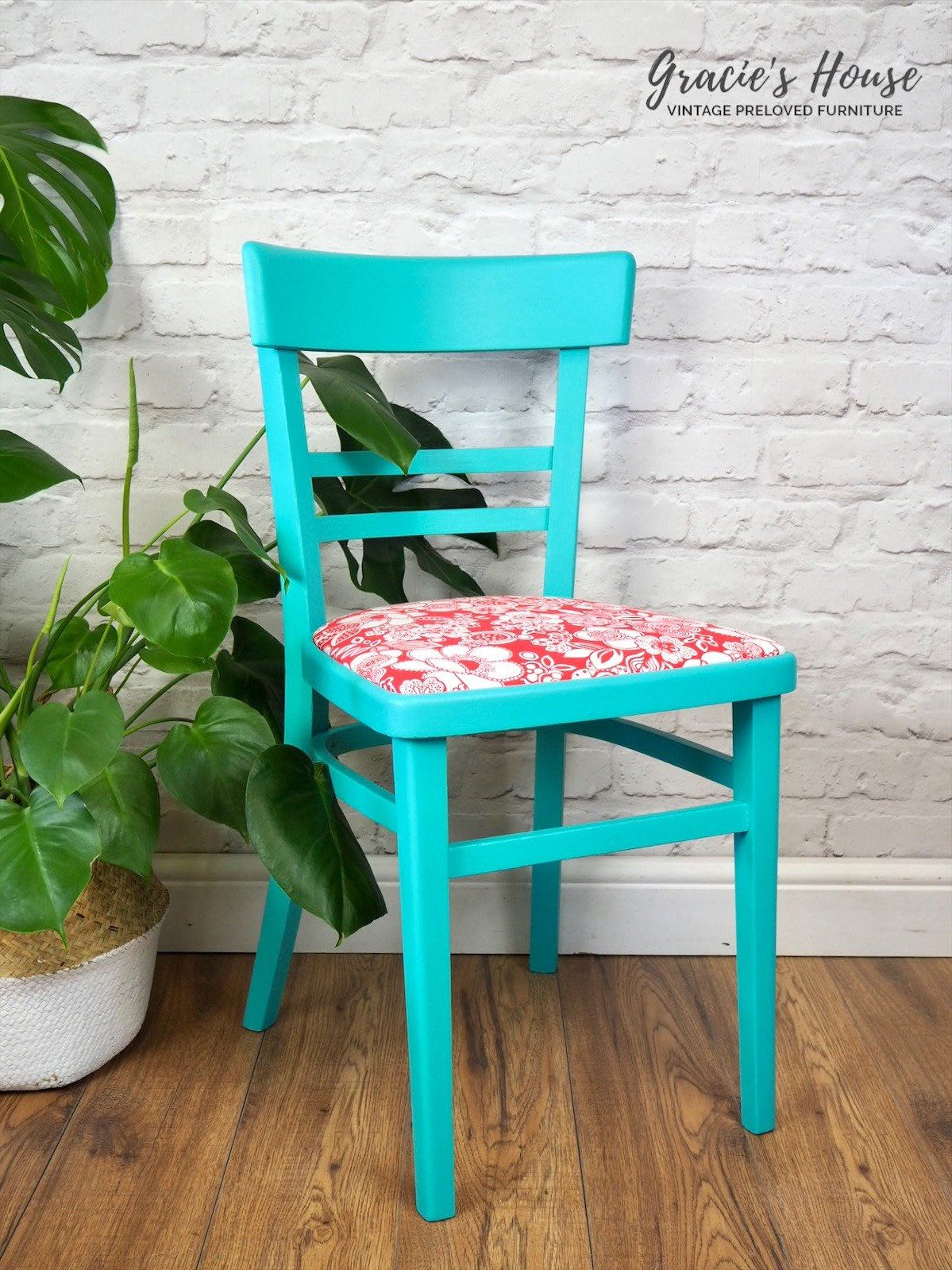 Excited to share this item from my #etsy shop: Retro Kitsch chair #bright #kitsch #retro #red #turquoise #fusionmineralpaint #gracieshouseuk #bedford #bromham #furnituremakeover #furniturepainter #furnitureupcycler #fusionmineralpaint #interiordesign #paintedfurniture #paintitbeautiful #upcycle