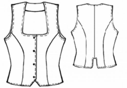 Sewing Instructions For Women Waistcoats / Tops / Vests | Patterns ...