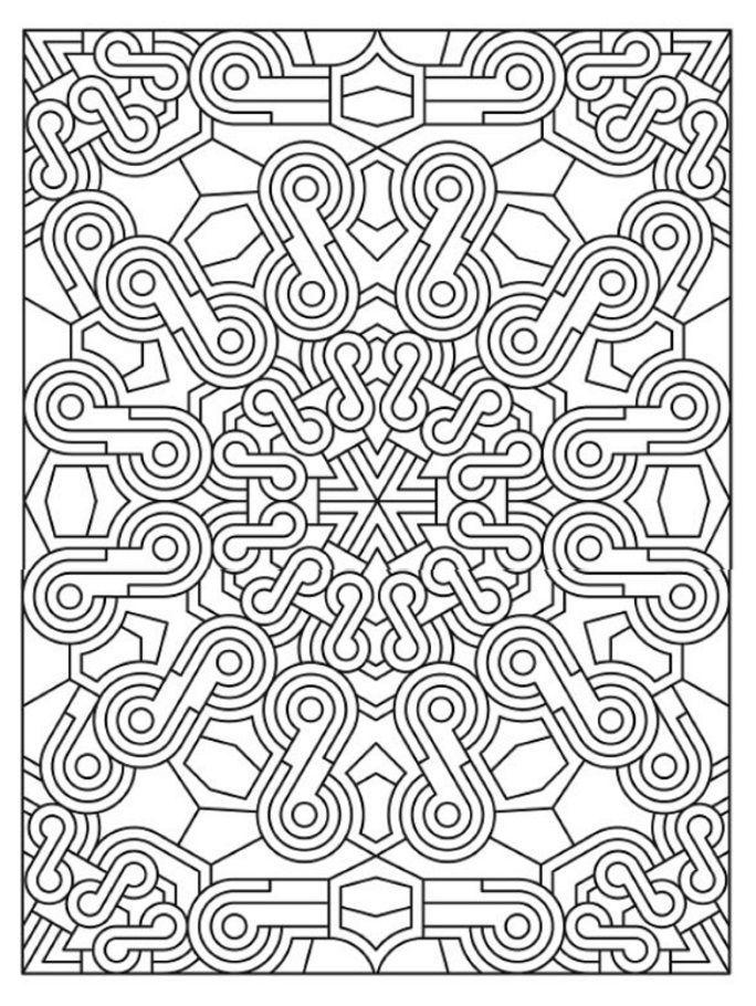 Dover Coloring Book Creative Haven Mandala Madness