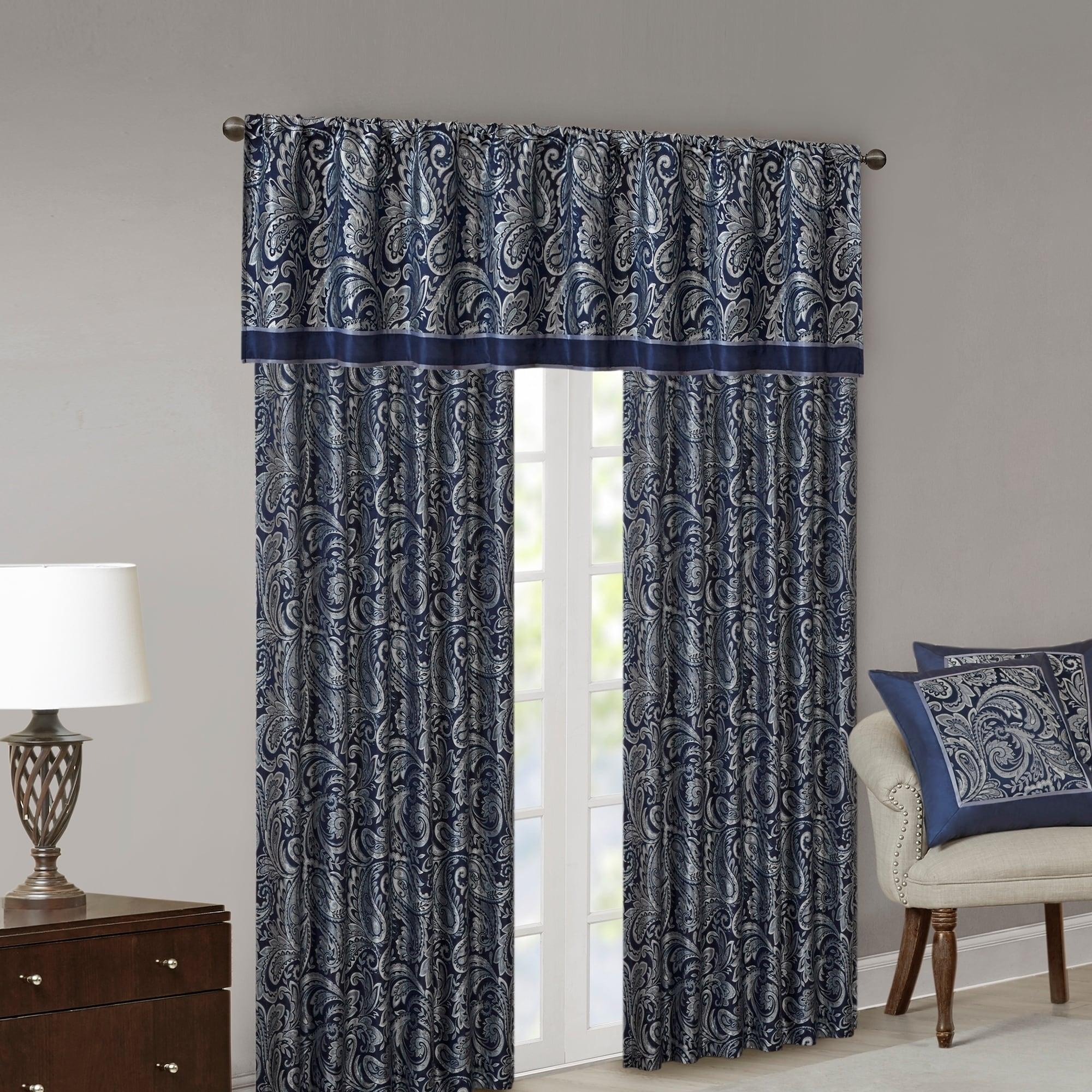 "Madison Park Whitman Curtain Panel Pair (50""W X 84""L"