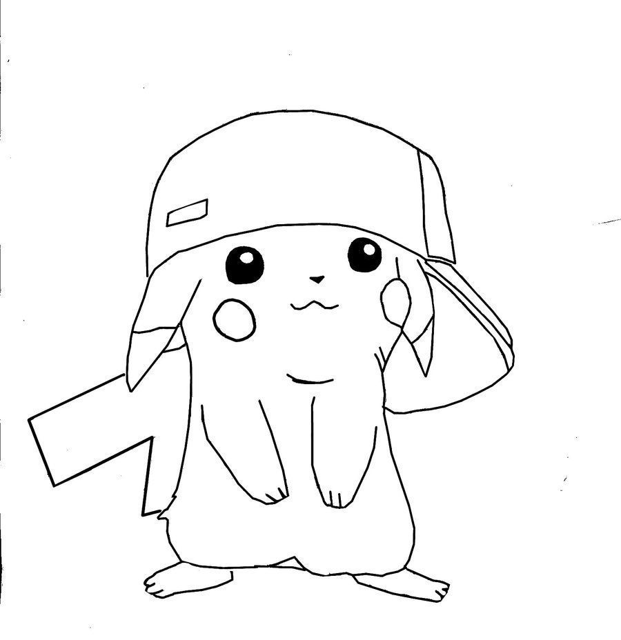 Pikachu Coloring Page Simple Pikachu Coloring Pages Ideas For