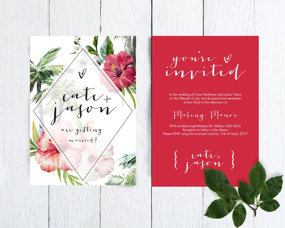 """""""Leilani"""" by Petal & Paper Stationery Wedding stationery"""