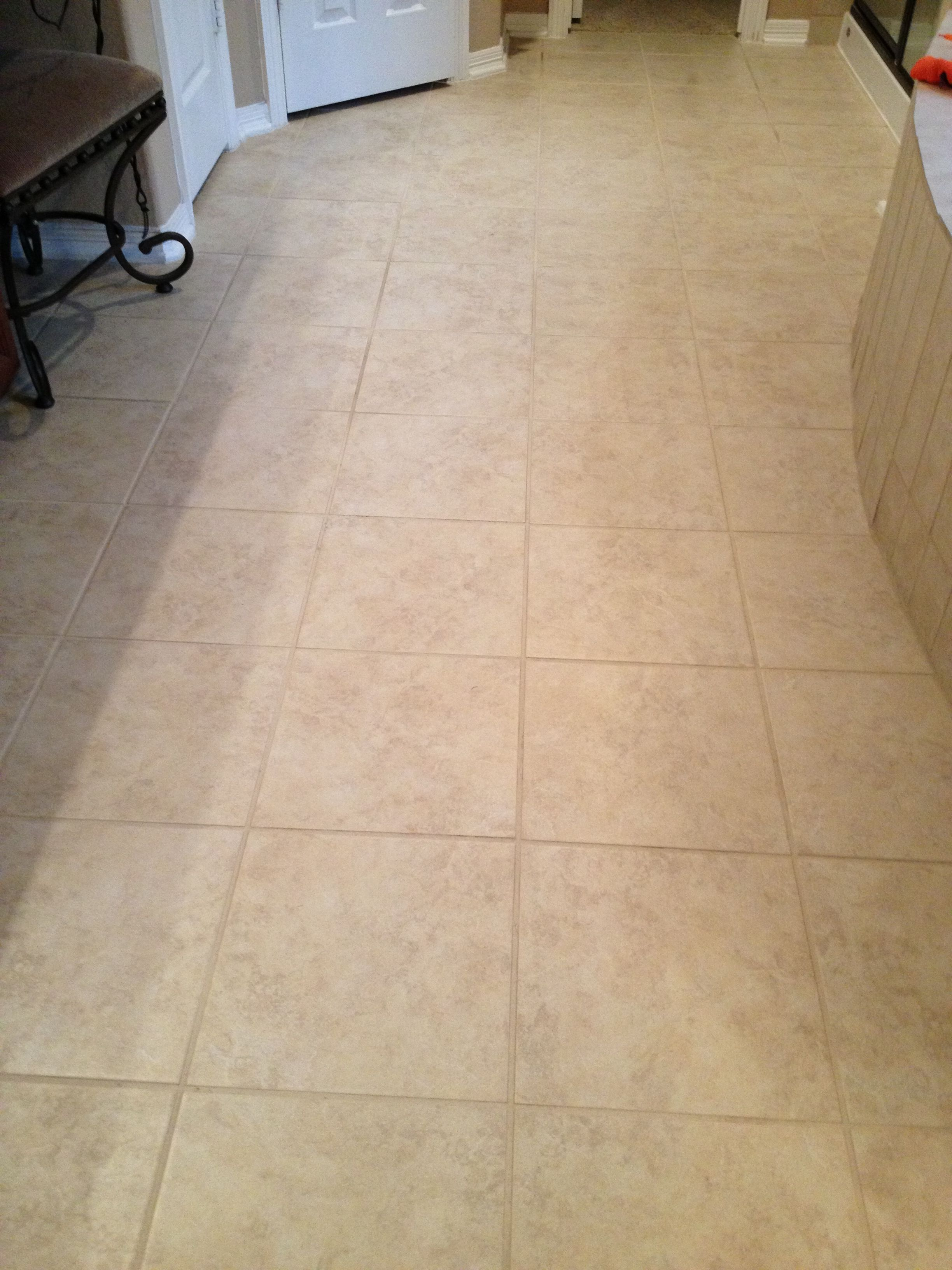 Cleaning grout in bathroom (after picture) used a product from Lowes called  Zep grout