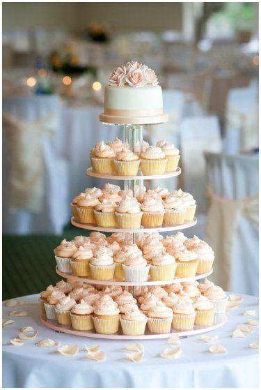 Peach Rose Cupcakes