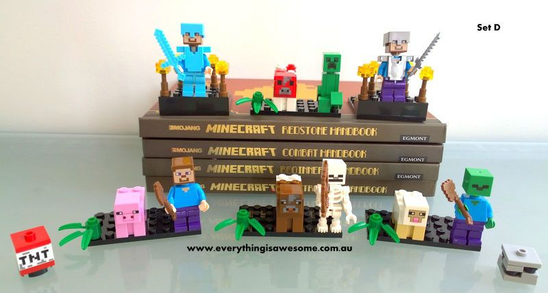 Minecraft Character Mini Figures Building Block Lego Compatible - http://www.austree.com.au/ads/baby-children/toys-indoor/minecraft-character-mini-figures-building-block-lego-compatible/26329/