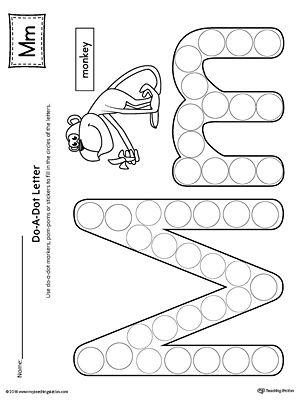 letter m do a dot worksheet letter m. Black Bedroom Furniture Sets. Home Design Ideas