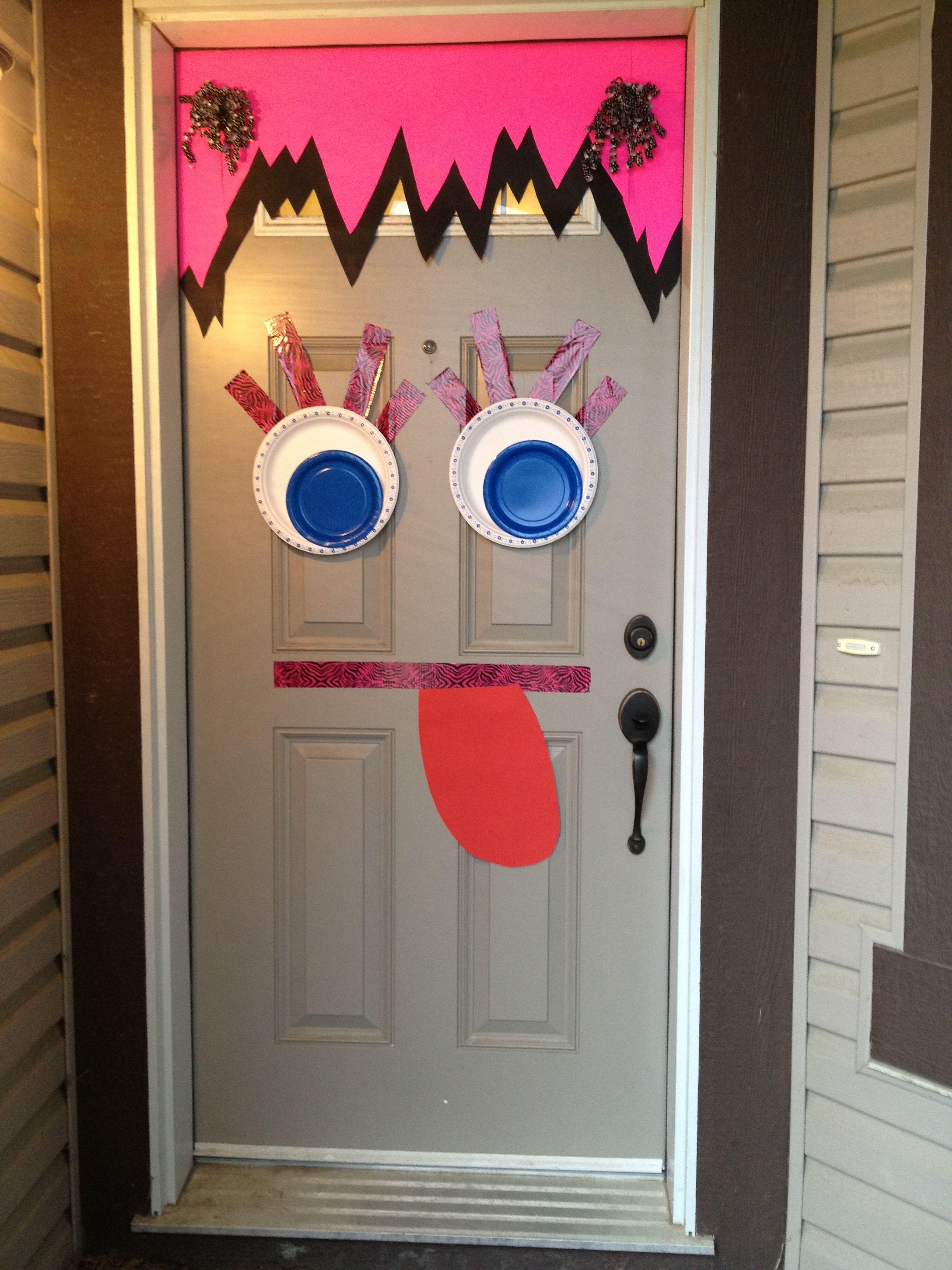 Halloween Door Monster Face Halloween Door Halloween Halloween Decorations