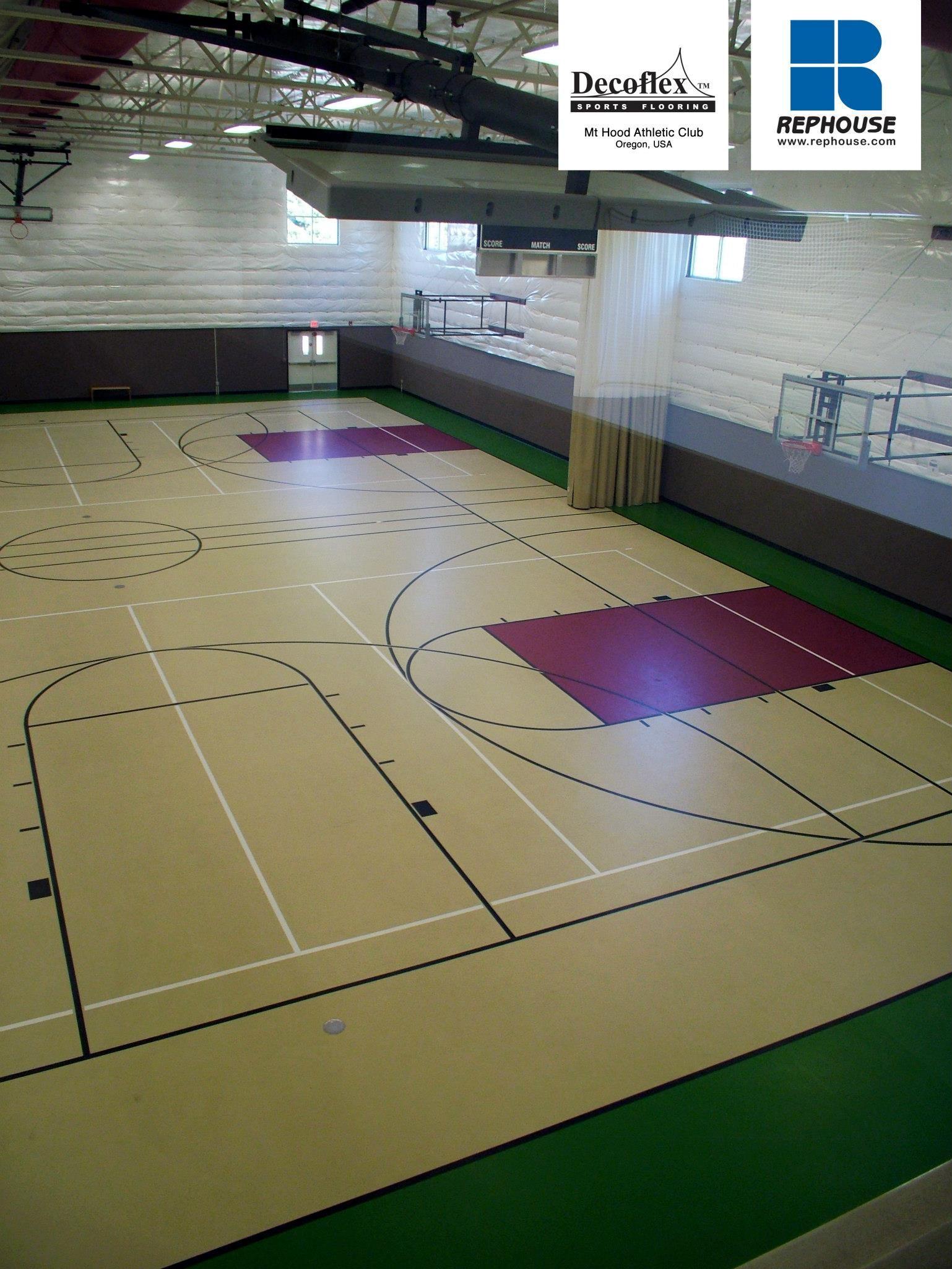 Decoflex Universal Seamless Polyurethane Indoor Sports Flooring Mt Hood Athletic Club Oregon Usa Indoor Sports Gym Flooring Rubber Gym Flooring