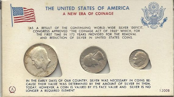 1966 United States of American Mint Set Half Dollar by