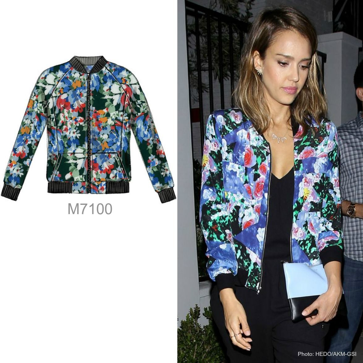 Sew the Look: The silk floral bomber jacket. This is McCall\'s M7100 ...