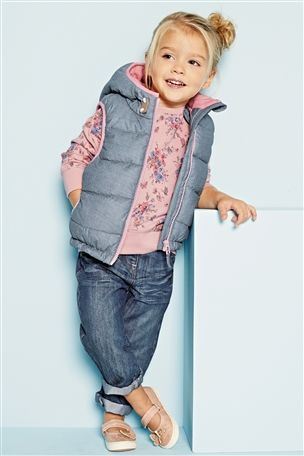 Buy Chambray Gilet 3mths 6yrs Online Today At Next United States Of America Shop Kids Clothes Toddler Girl Outfits Kids Outfits
