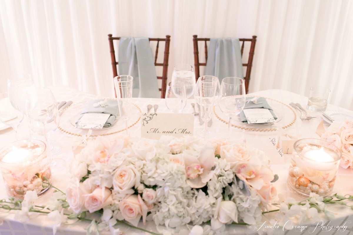 Over the top wedding decorations  Sweetheart Table Lake Nona Wedding Planner  Swanky I Dous
