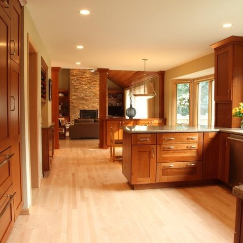 Maple Kitchen Cabinets Design Ideas, Pictures, Remodel and ...