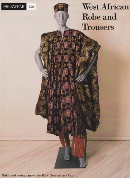 West African Robe Trousers Cap Sewing Patterns Folkwear 60 Enchanting African Sewing Patterns