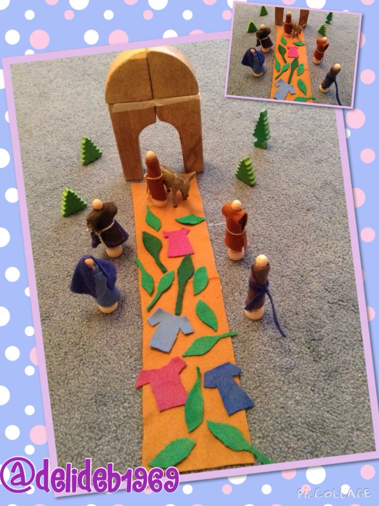 Palm Sunday Godly Play props. | Stuff for Religious Education ...