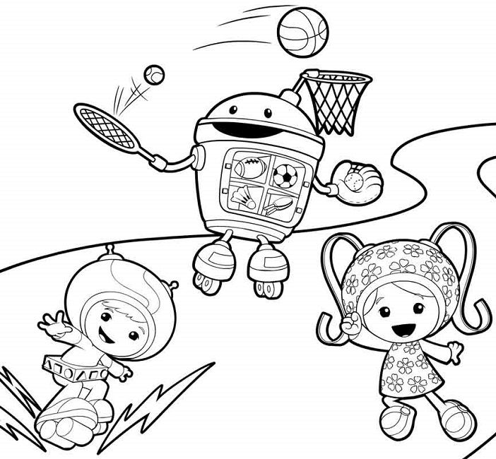 team umizoomi easter coloring pages Cartoon Easter