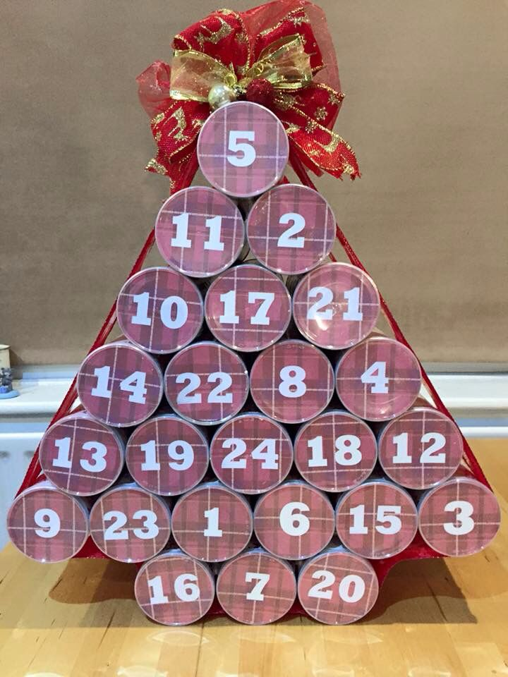 Pringles tube advent calendar Pringles tube advent