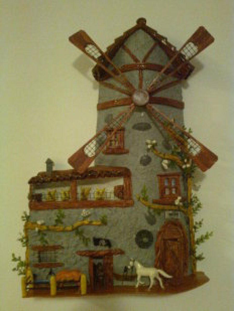 Tejas decoradas artesania en tejas pinterest casitas - Tejas pequenas decoradas ...