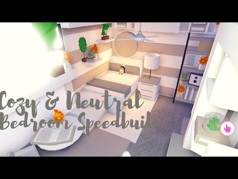 Cozy Neutral Bedroom Speedbuild Adopt Me Roblox Youtube Cute Room Ideas Cute Bathroom Ideas Yellow Kids Rooms