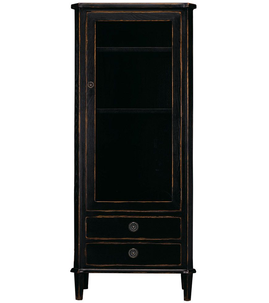 Henshaw black display cabinet add drama to any room henshaw is